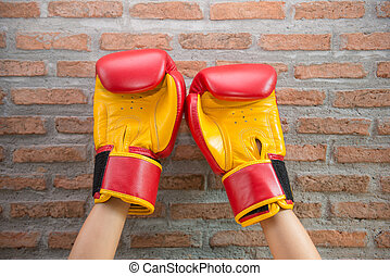 """Red Boxing Gloves """"MUAY THAI"""""""