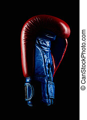 Boxing Gloves - Red Boxing Gloves on dark background