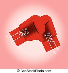 red boxing gloves. vector illustration.