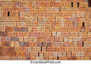 Red brick block
