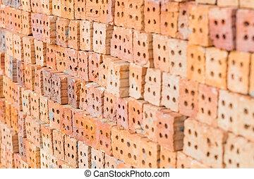 Red brick block for wallpaper