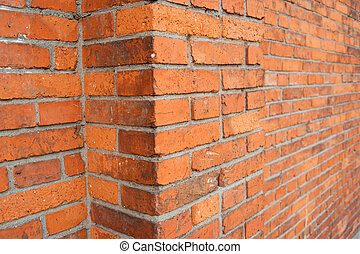 Red brick building wall