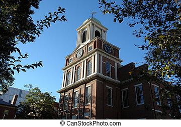 Red brick church in Boston