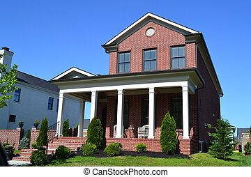 Red brick dream home