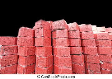 red brick for construction background texture