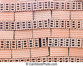 red brick for construction texture background