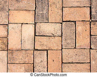 red brick pattern for walkway
