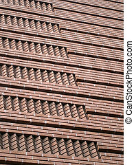 Red Brick pattern side of building