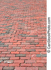 Red Brick Road - An old red brick road.