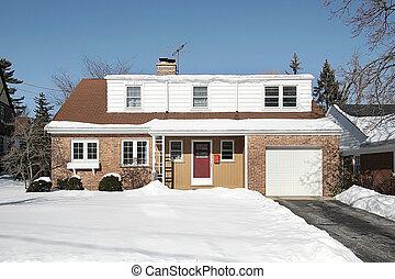 Red brick suburban home