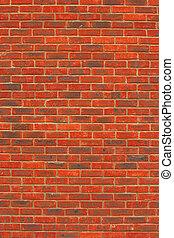 Red brick wall texture.