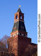 Red brick tower