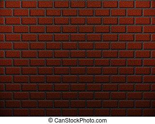 Red brick wall - Abstract illustration of red brick wall...