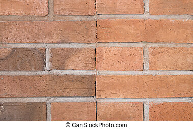 Red brick wall. background
