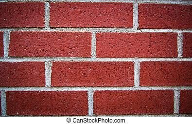 Red Brick wall - Close up of a red brick wall
