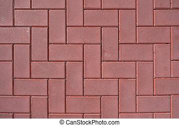 Red brick wall. Close-up.