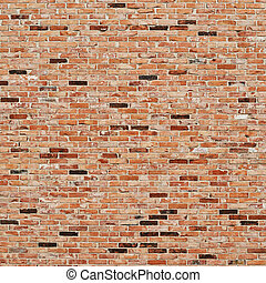 Red brick wall - Old red brick wall fragment as a background...