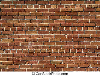 Red Brick Wall Pattern Background on Building