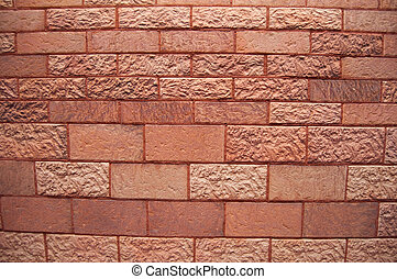 red brick wall - A detailed view of an old red brick wall