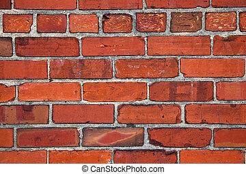 Red brick wall  - Red brick wall