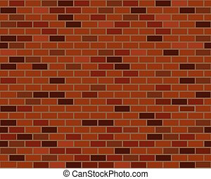 Red brick wall seamless
