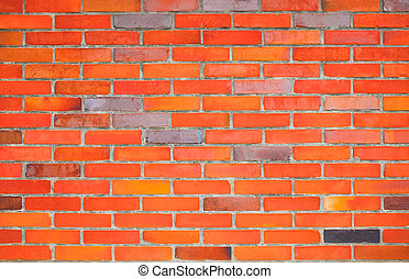 Red brick wall, texture background, for advertising, text insertion