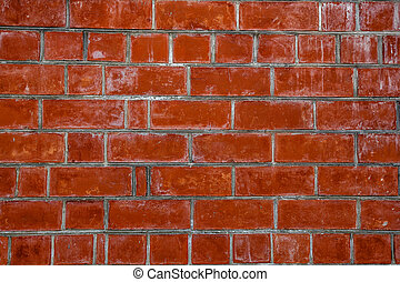 red brick wall texture background material of industry building construction
