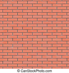 Red Brick Wall Texture Seamlessly Tileable. (more seamless...