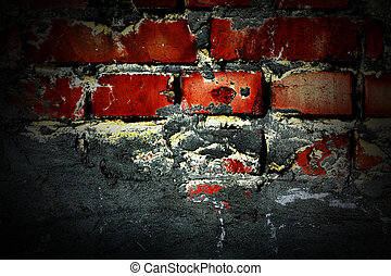 Red brick wall. - The Wall! Red brick wall background in a...