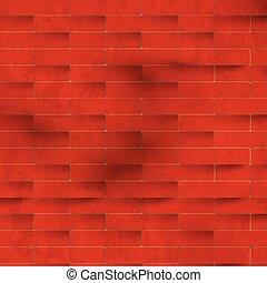 Red brick wall, vector