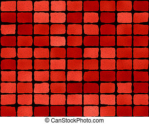 Red brick wall with blocks as a background