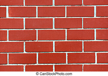 Red brick walls of the home. - The red brick walls of the...