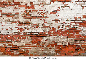 red brick with plaster background