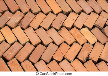 red bricks - building materials in rural China