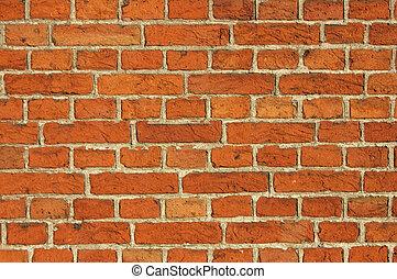 Red Bricks Wall Background - Red Bricks Wall background shot...