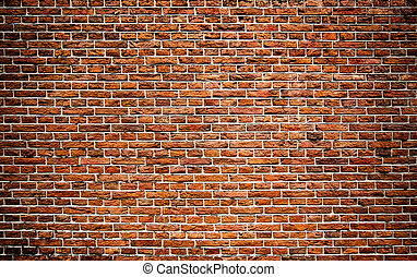 Red bricks wall texture background