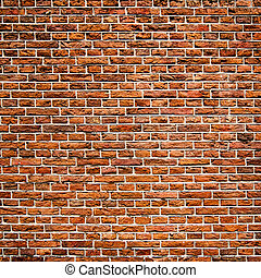 Red bricks wall texture
