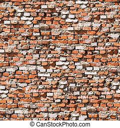 Red brickwork seamless background.
