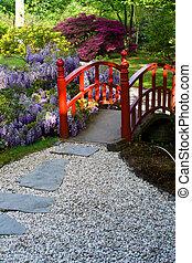 bridge in japanese garden (the Hague)