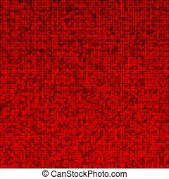 Red bright pixel abstract mosaic. Virtual concept. Technology background. Vector illustration.