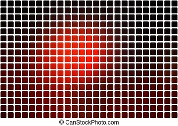 Red brown black abstract rounded mosaic background over white