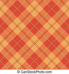 Red brown yellow tartan seamless texture. Vector...