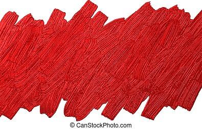 Red brush stoke texture on white background vector illustration