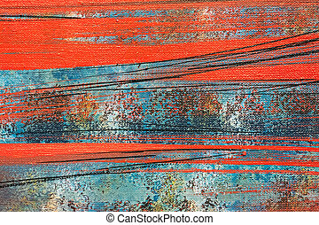 red brush strokes background