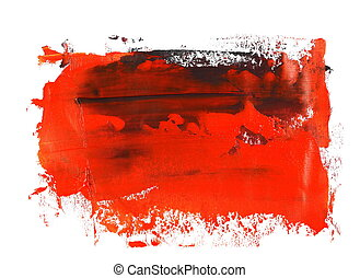 red brush strokes oil paint