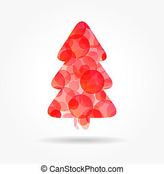 red bubble christmas tree poster