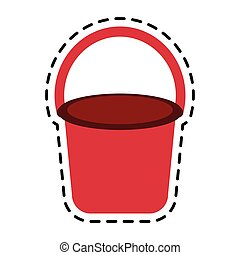 red bucket icon image