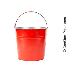 Red Bucket, Isolated on white background