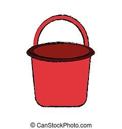 bucket with handle icon image