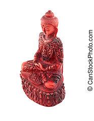 Red budha statue